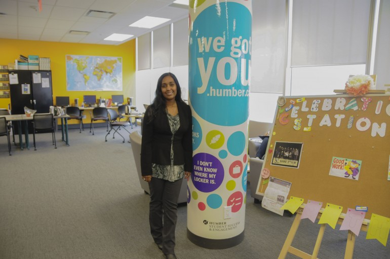 Coordinator of First Year Experience programs Nivedita Lane in Humber North's Student Life Centre on Oct. 26.