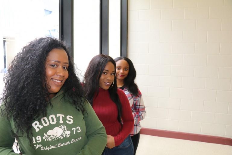 From left: Jahnelle Simpson, Santasia Barrett, Keysha Watson.  (Tyler Hehn)