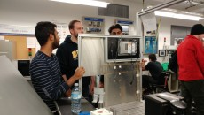 Electromechanical Engineering automation and robotics students are completing their major final assignment. Automation and robotic students Brett Griffin, Ryan Persaud, Daniel Sahadeo, and Krishen Goonish are all working on their final assignment they've been working on since first year.