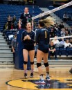 Alexandra Newman (12) and Gabie Miletic (1) celebrate on Dec. 1, 2016. Credit: Jake Bowen