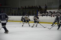 Humber's Extramural Hockey team in action against an opponent this season.